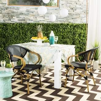 Safavieh Burke Indoor / Outdoor Stacking Wicker Chair 2-piece Set