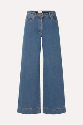 The Row Anat High-rise Wide-leg Jeans - Blue