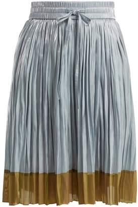 RED Valentino Colour-block pleated skirt