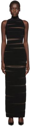 Balmain Black Sleeveless Long Dress