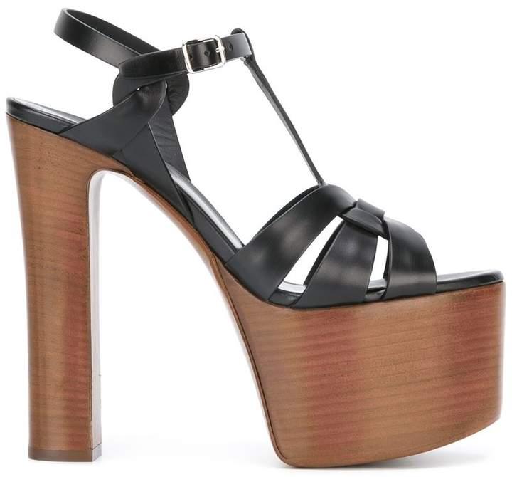 Saint Laurent Betty 80 bow sandals