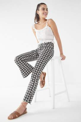 BDG Kick Flare High-Rise Cropped Jean – Houndstooth