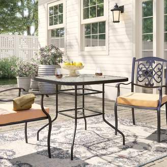 Fleur De Lis Living Courtois Outdoor Stainless Steel Dining Table