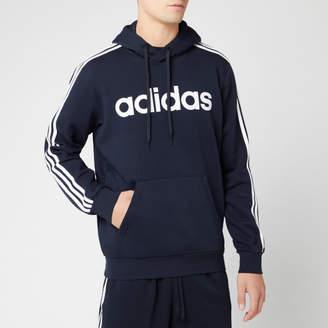 adidas Men's Essential 3 Stripe Pullover Hoodie