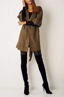 frontrow Suede Waterfall Coat