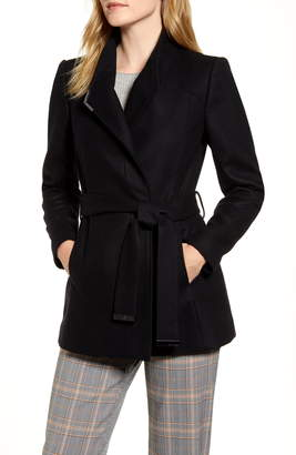 Ted Baker Wool Blend Short Wrap Coat