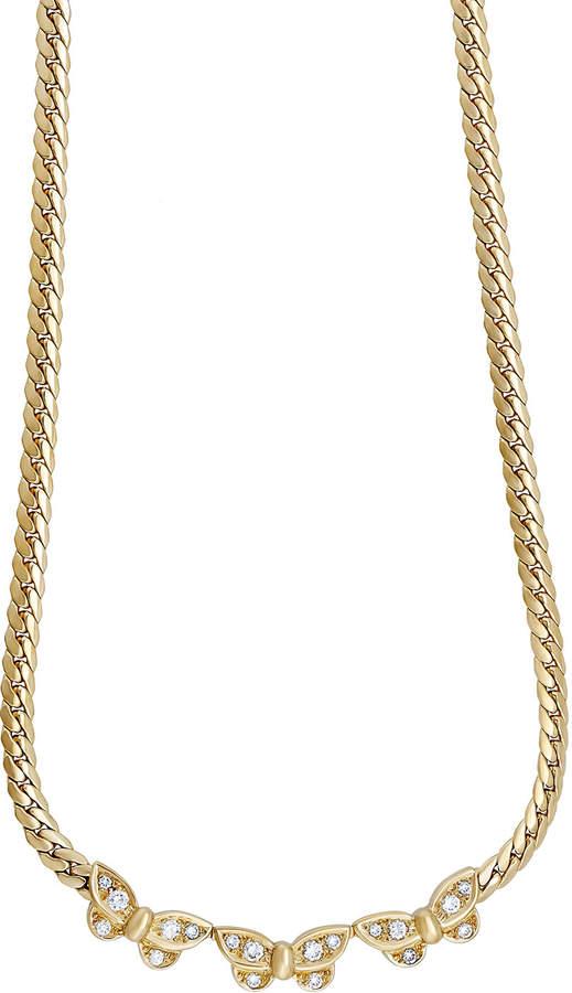 Van Cleef & Arpels Estate 18k Gold & Diamond Papillon 3-Butterfly Necklace