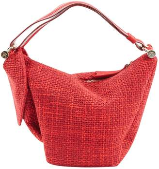 Atelier Manu Red Tweed Handbag