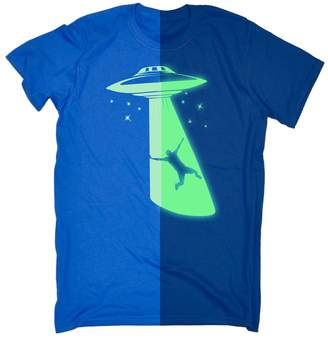 123t Kids Funny Gift Kids Glow In The Dark UFO (Age-5-6 - ROYAL) KIDS T SHIRT