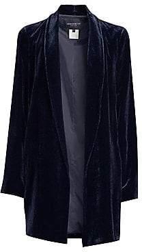 Lafayette 148 New York Women's Cecily Velvet Open-Front Jacket