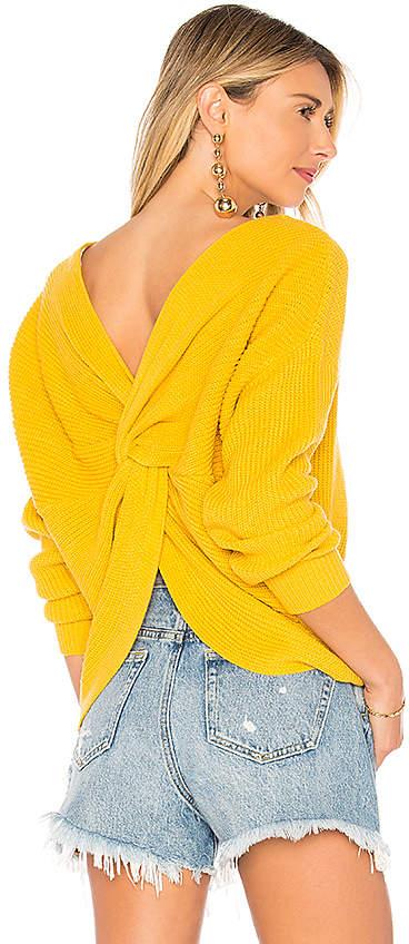 x REVOLVE Back Detail Sweater