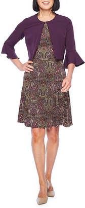 Perceptions 3/4 Bell Sleeve Paisley Jacket Dress