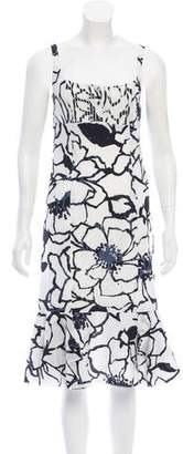 Nina Ricci Silk Floral Midi Dress w/ Tags