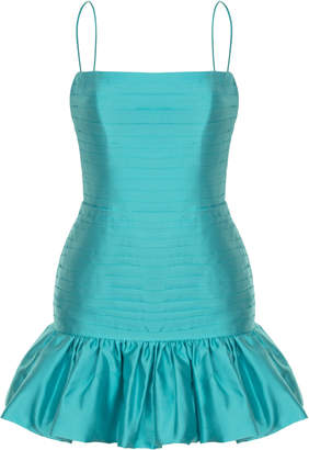 Rasario Low-Back Silk Mini Dress