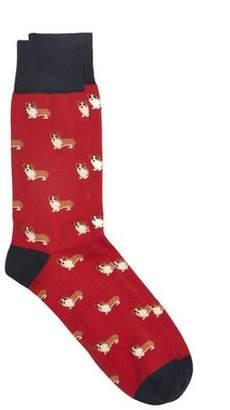 Corgi Corgi's Socks in Red