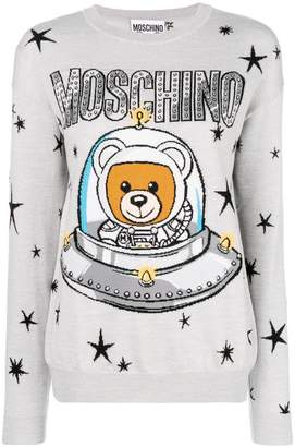 Moschino Teddy logo print sweater