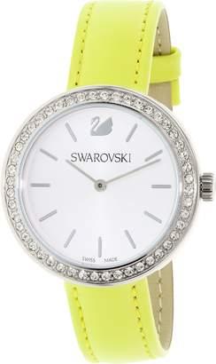Swarovski Women's 5095643 Leather Swiss Quartz Watch