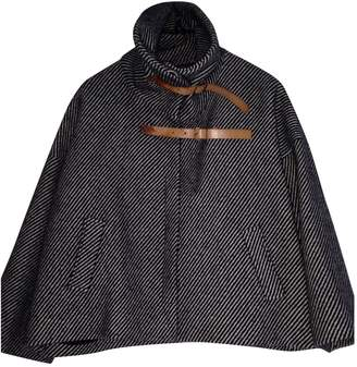 Les Prairies de Paris Black Wool Coat for Women
