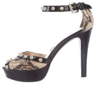 MICHAEL Michael Kors Embossed d'Orsay Sandals
