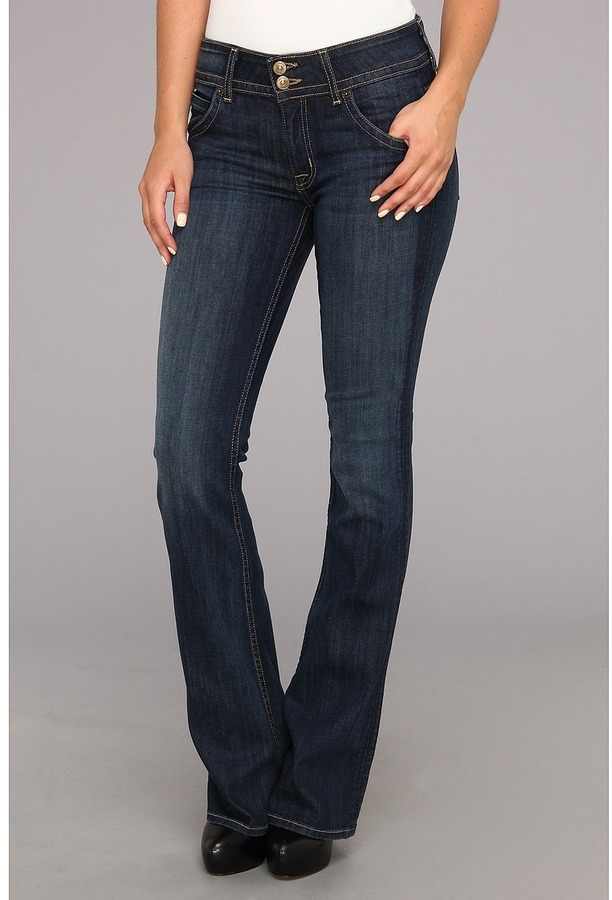 Hudson Signature Mid-Rise Bootcut in Lux (Lux) - Apparel