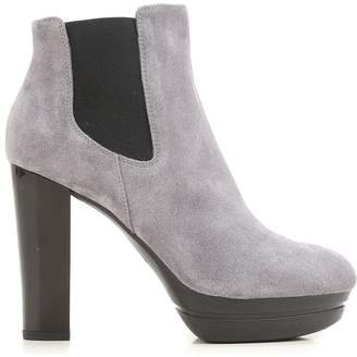 Hogan H313 Suede Ankle Boots