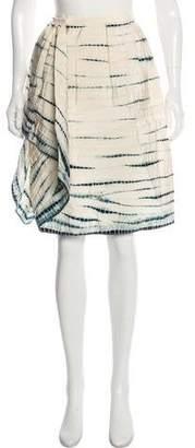 Oscar de la Renta Silk Tie-Dye Skirt