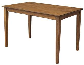"""INC International Concepts 30"""" x 48"""" Solid Wood Dining Table in Pecan"""