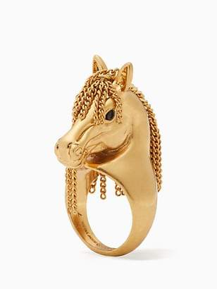 Kate Spade Wild ones horse ring