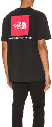 The North Face Red Box Tee in TNF Black   FWRD