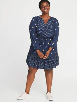 Old Navy Waist-Defined Plus-Size No-Peek Dress