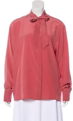 Bottega Veneta Silk Button-Up Top