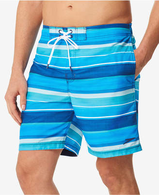 Speedo Men's Time Off Stripe E-Board 7'' Swim Trunks