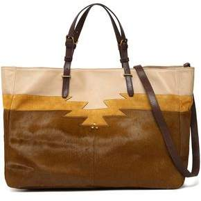 Jerome Dreyfuss Leather Suede And Calf Hair Tote