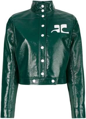 Courreges patent cropped jacket