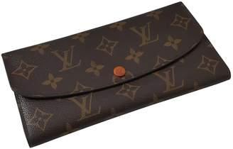 Louis Vuitton Emilie Orange Cloth Wallets