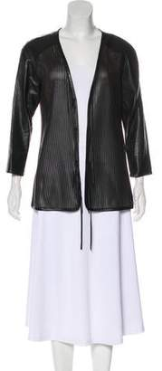 Raquel Allegra Leather Elbow Sleeve Jacket
