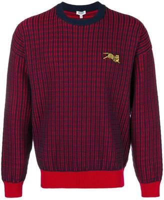 Kenzo check knit sweater