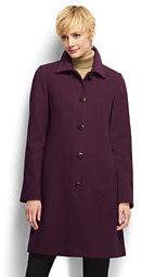 Lands' End Women's Tall Luxe Wool Car Coat-Rich Red $219 thestylecure.com