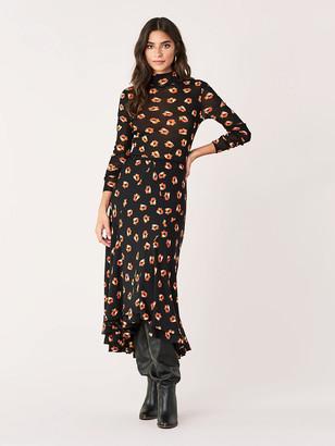 Diane von Furstenberg Debra Crinkle-Chiffon Midi Skirt