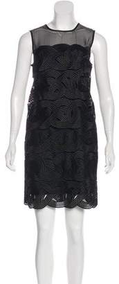 Reiss Embroidered Mini Dress