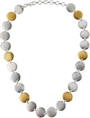 Gurhan Flake Silver & 24k Disc Necklace