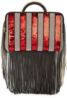 THE VOLON Bon-Bon Sequin Tassel Clutch Bag