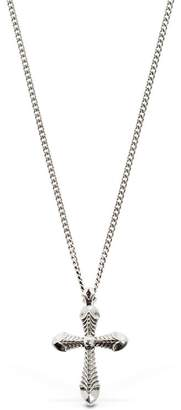 Emanuele Bicocchi Cross Sterling Silver Necklace