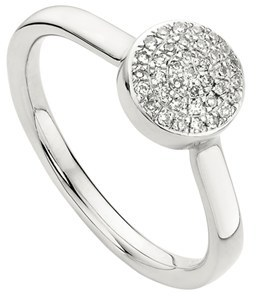 Women's Monica Vinader 'Ava' Diamond Button Ring $295 thestylecure.com