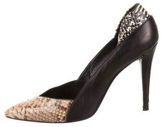 Narciso Rodriguez Python-Trimmed Pointed-Toe Pumps