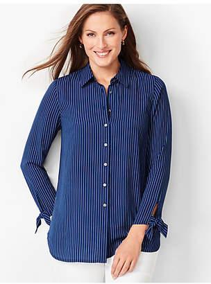 Talbots Tie-Sleeve Shirt - Stripe