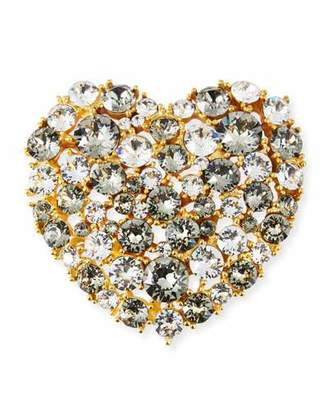 Kenneth Jay Lane Crystal Heart Pin