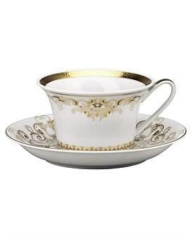 Versace Medusa Gala Gold Teacup & Saucer