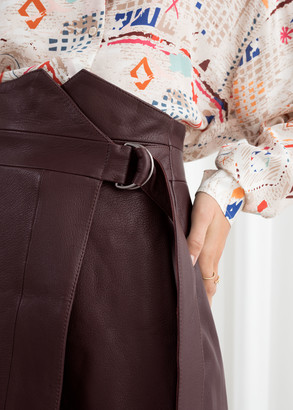 And other stories Belted Leather Mini Skirt