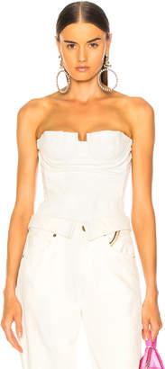 Amiri Lace Leather Corset Top